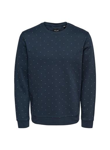 Only & Sons Sweatshirt Lacivert